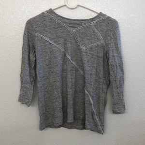 Marc By Marc Jacobs 3/4 Length Sleeve Grey Blouse